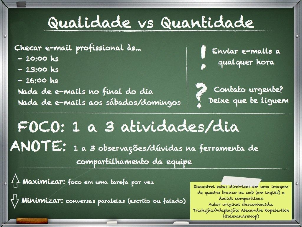 Qualidade vs Quantidade