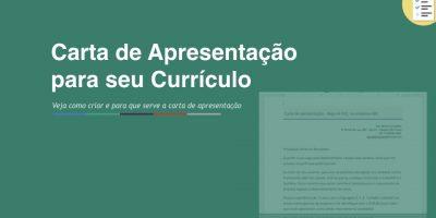 Modelo de Carta de Apresentação para currículos